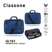 Classone UL161 Ultrabook Large Serisi 15,6 inch Notebook Çantası Lacivert