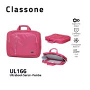 Classone UL166 Ultrabook Large Serisi 15,6 inch  Notebook Çantası Pembe