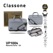 Classone Ravenna Serisi VP1004 13-14 inch El Çantası-Gri