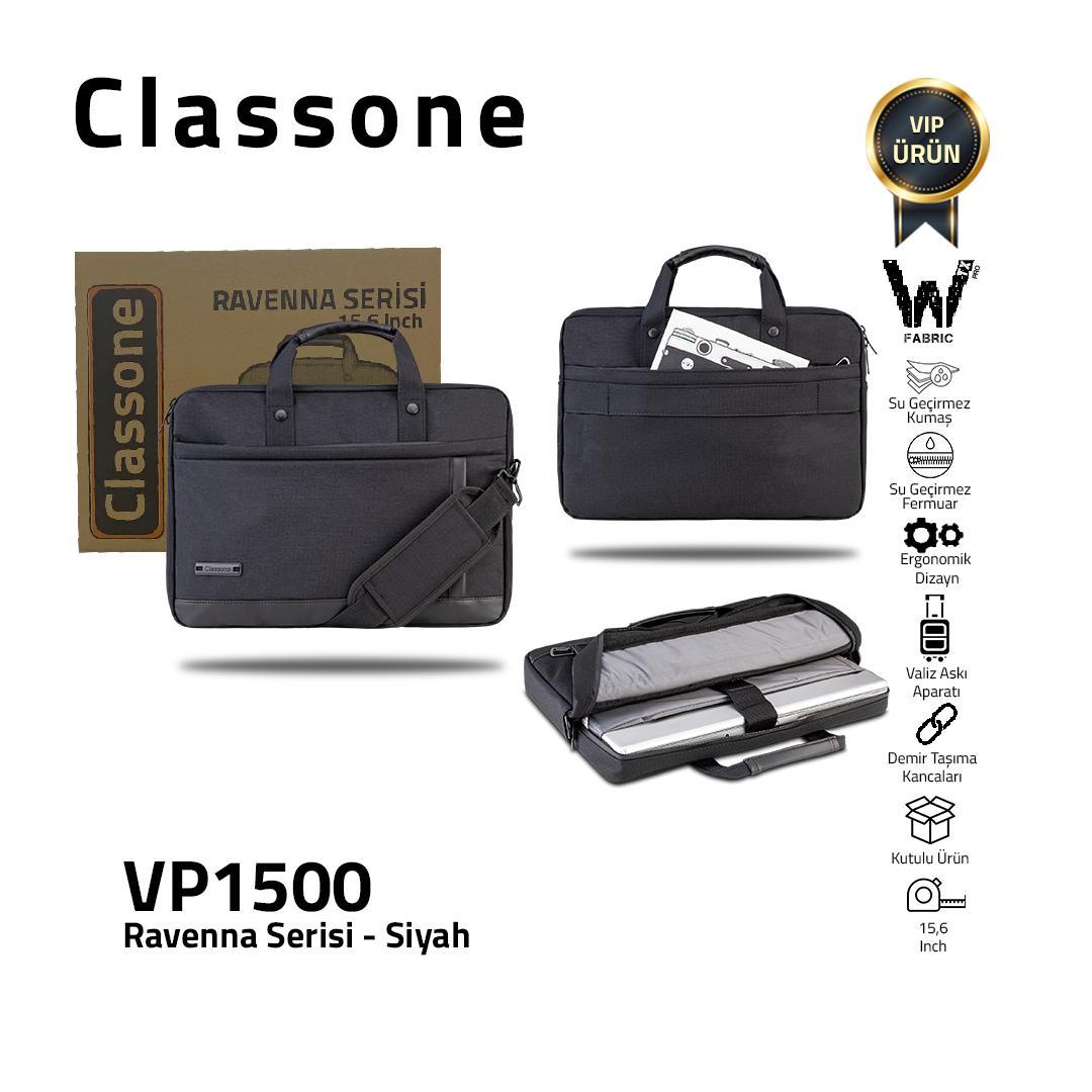 Classone Ravenna Serisi VP1500 15.6 inch El Çantası-Siyah