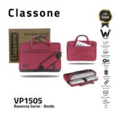 Classone Ravenna Serisi VP1505 15.6 inch El Çantası-Bordo