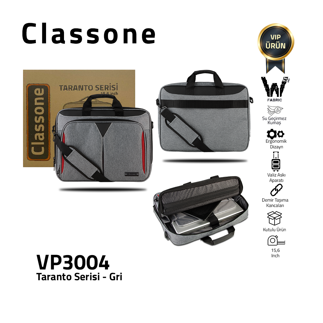 Classone Business Large Series TL3004 15,6 Zoll kompatible Notebook-Tasche - Grau