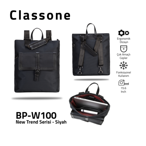 Classone BP-W100 New Trend Bayan Çantası - Siyah