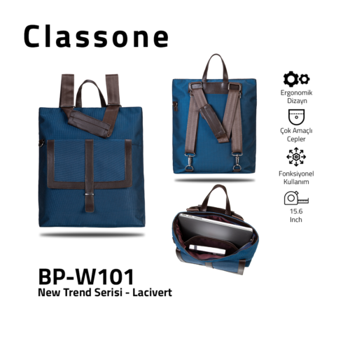 Classone BP-W101 New Trend Bayan Çantası - Lacivert