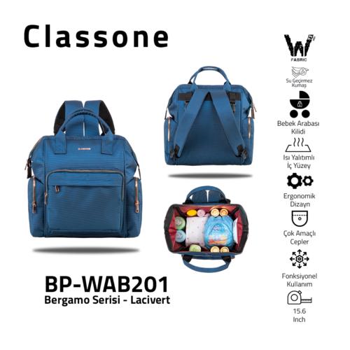 Classone Bergamo Serie Babypflege-Rucksack / Navy Blau