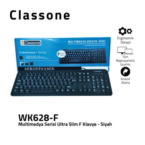Multimedia Ultraflache USB-F-Tastatur