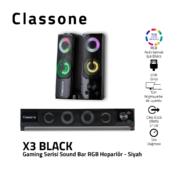 Classone X3 Gaming Soundbar, RGB-Lautsprecher - Schwarz