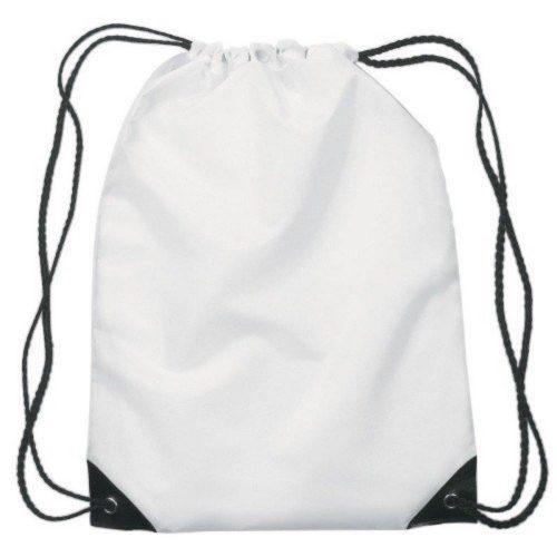 Büzgülü Torba Çanta - Beyaz