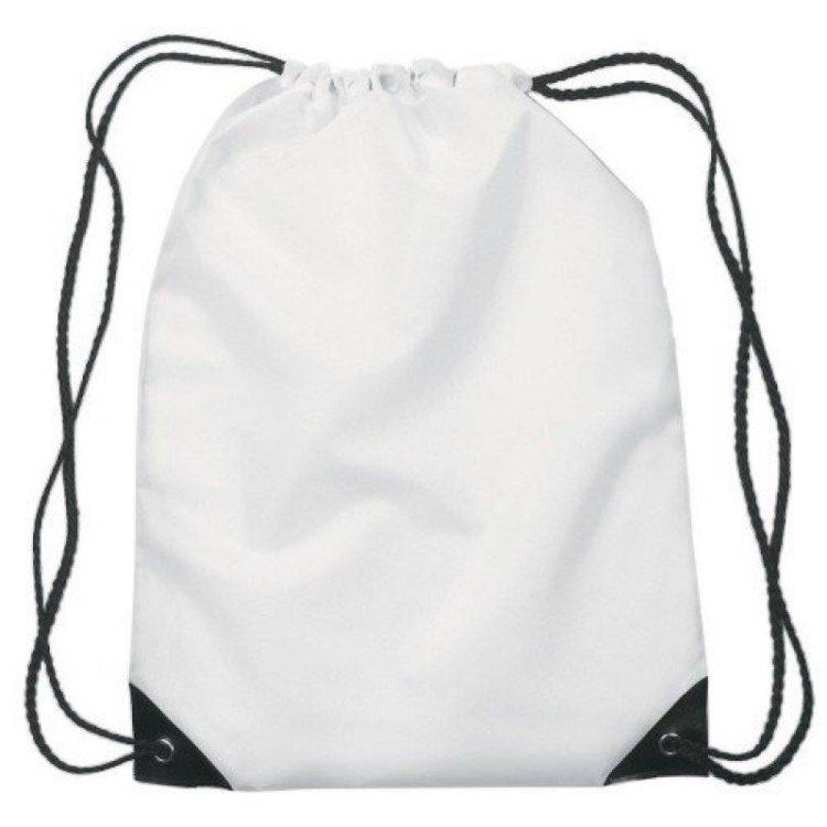 Kordelzug Taschen - Weiß