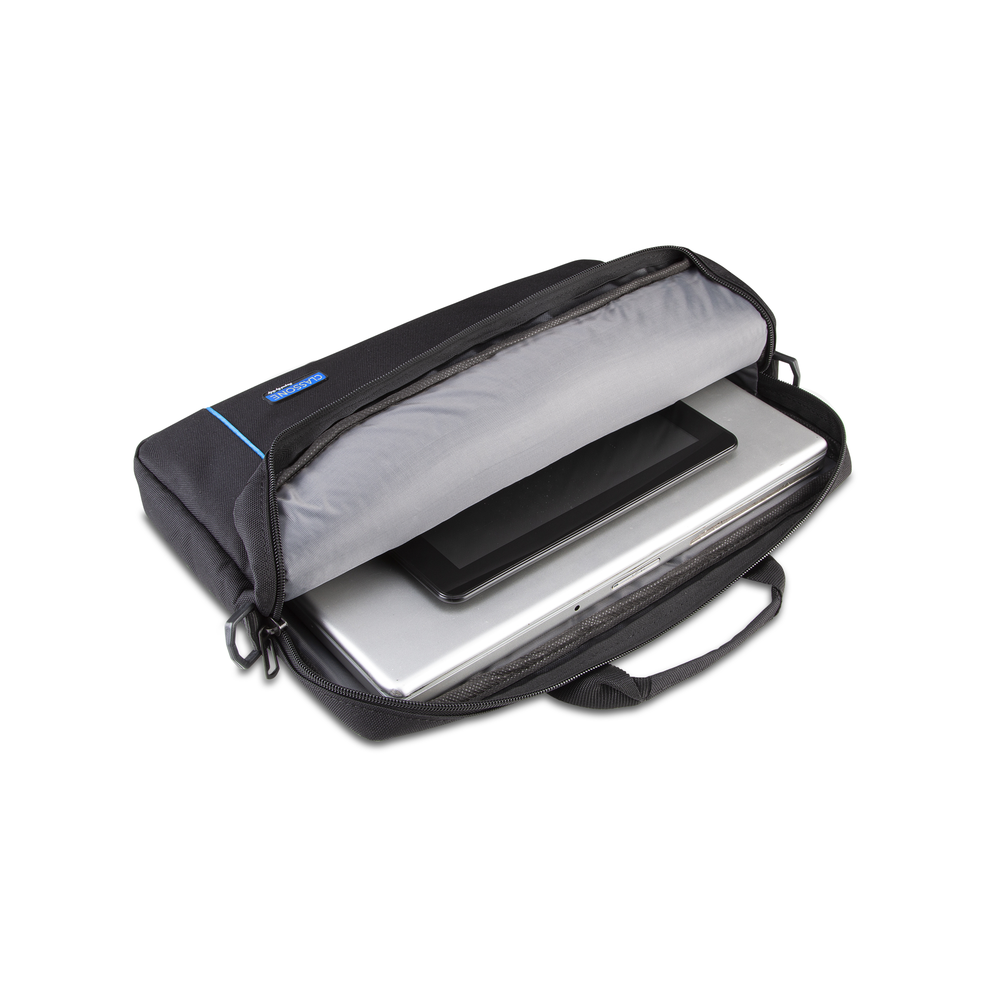 Classone BND700M WorkStation4 Serisi 15.6 inch Laptop, Notebook Çantası-Siyah/Mavi