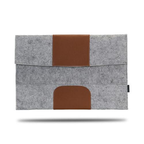 Classone Avantgarde 15,6 inch Laptop Kılıf - Gri-Kahverengi