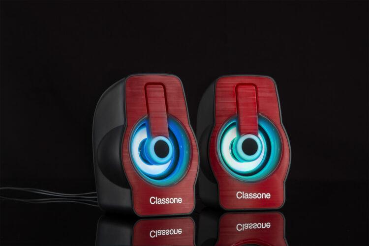 Classone X1 Red RGB Gaming Hoparlör - Kırmızı