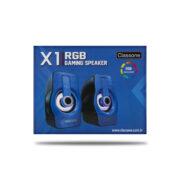 Classone X1 Blue RGB Gaming Hoparlör - Mavi