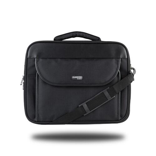 Classone G16001L Guard Serisi Kasnaklı 15,6 inch Notebook Çantası - Siyah/Gri